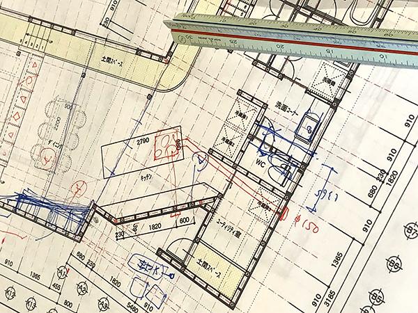 建て替え検討中の平面図