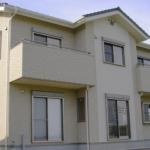 おしゃれな建て替え住宅の外観
