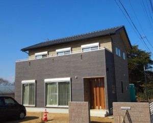 神栖市の新築一戸建て外観実例