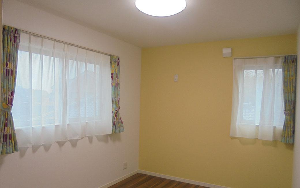 パステルカラーの可愛い居室