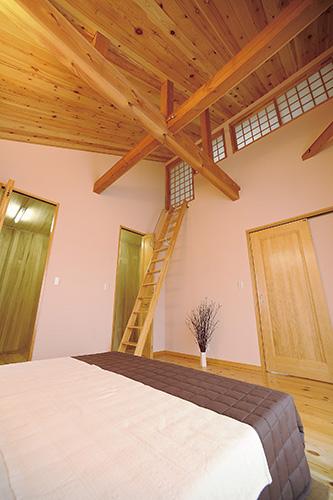 パステルピンクの可愛い居室