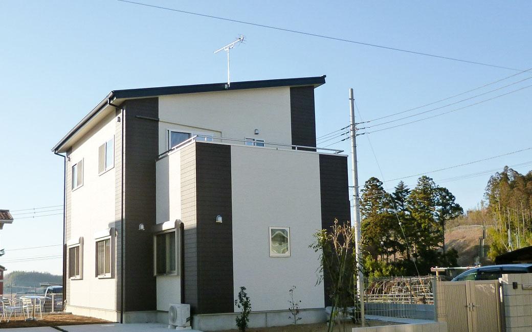 成田市のシンプルモダンな新築一戸建て