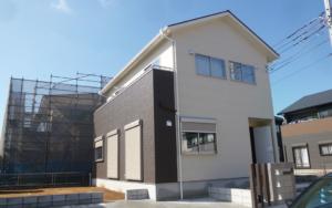 鹿嶋市のシンプルモダンな外観の新築一戸建て