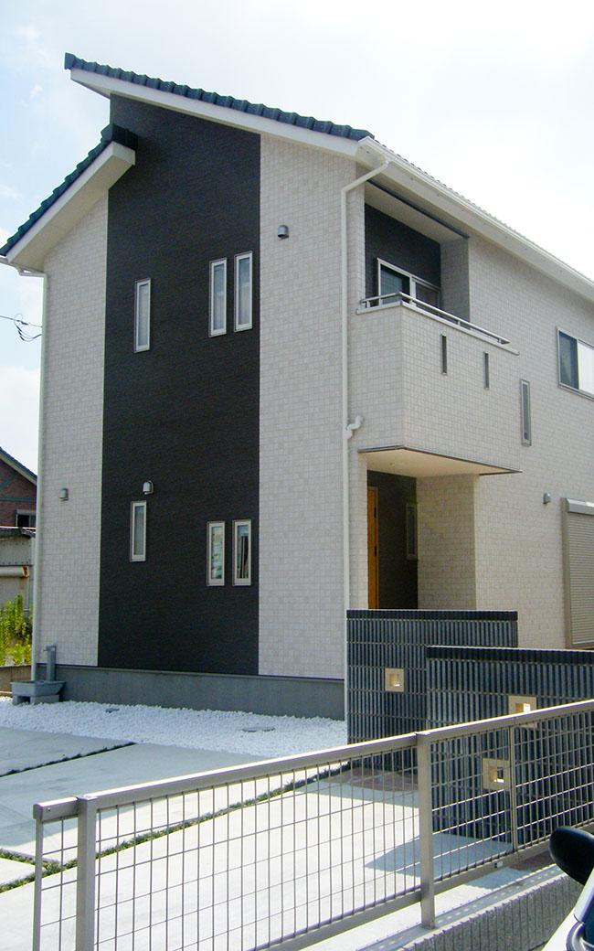 自由設計の家の外観