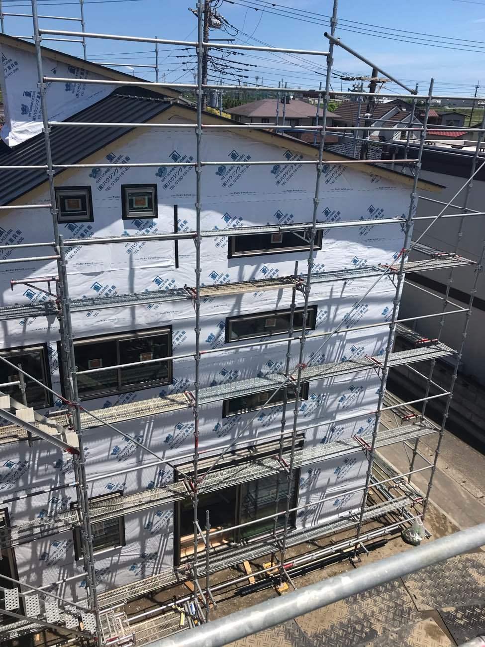 建て替え中の一軒家