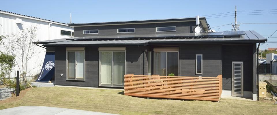 3LDKの平屋モデルハウス外観
