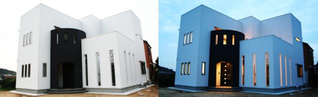 モダンな住宅の外観