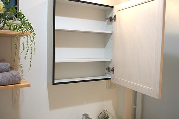 小見川モデルハウス-洗面台鏡