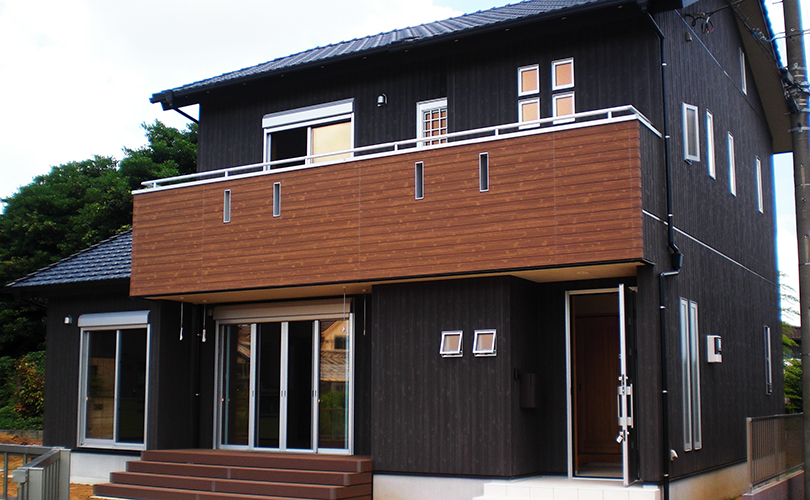 鹿嶋市の新築一戸建て外観実例