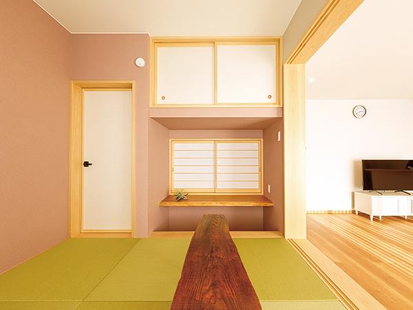 平屋のリビング横の和室