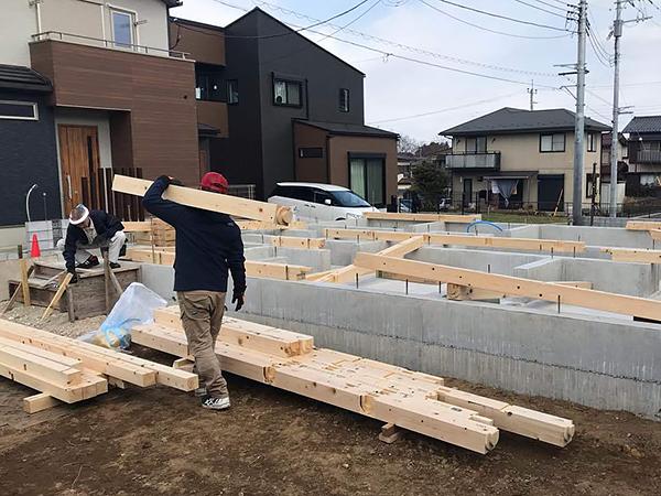 M様邸の家づくり-土台工事
