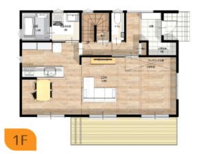 K様邸1階平面図