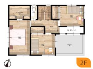 K様邸2階平面図