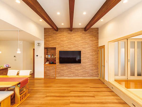 ワンフロアの快適さ。家全体が心地よくつながる平屋の家