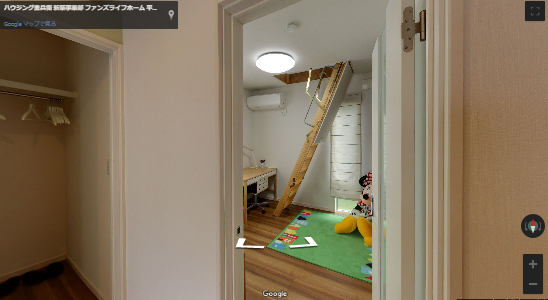 ロフト付きの平屋の子ども部屋