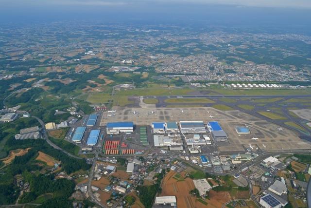 成田空港上空写真