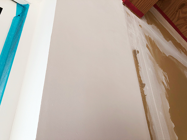 S様邸の漆喰壁